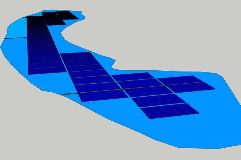 floating solar power plants